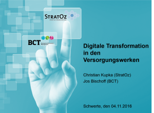 Digitale Transformation - Digitales Versorgungswerk 4.0